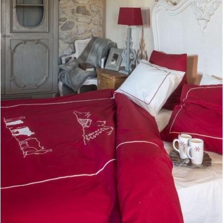 housse de couette mont e l 39 alpage deco montagne vagabonde. Black Bedroom Furniture Sets. Home Design Ideas