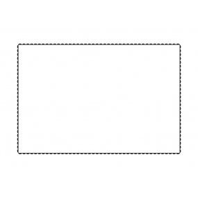 Taie d'oreiller Blanche - liseré  noir 50x70 cm