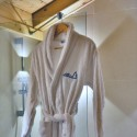 White alpine bathrobe