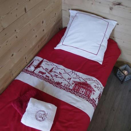 housse de couette montagne housse de couette style chalet. Black Bedroom Furniture Sets. Home Design Ideas